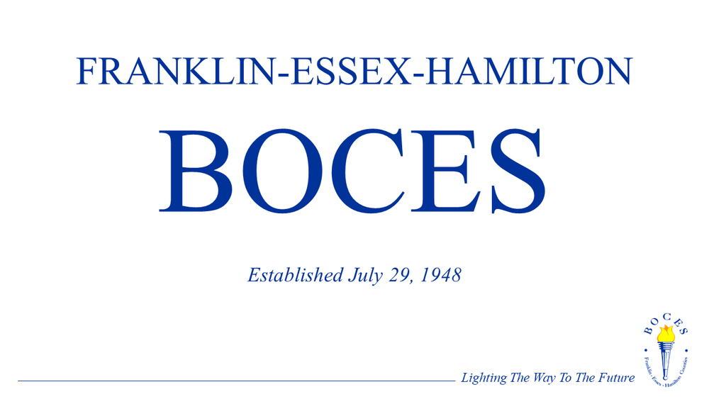 PRESS RELEASE  District Superintendent Search Finalists  for Franklin-Essex-Hamilton BOCES