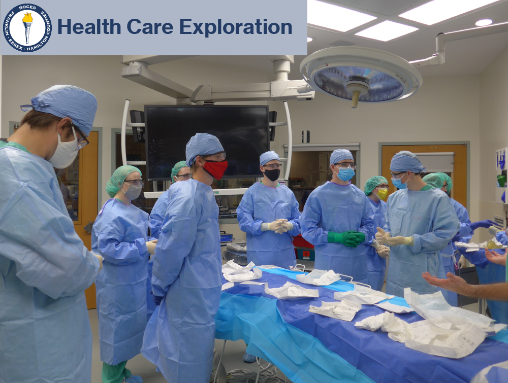 New Vision students exploring careers in health care