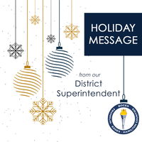 Saying toodleoo to 2020: a holiday message from the district superintendent