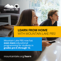 Mountain Lake PBS supports at-home learning with on-air and online educational programming