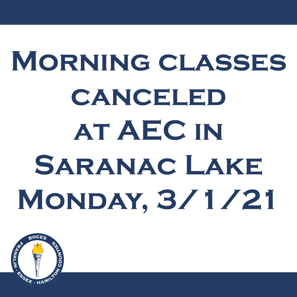 Morning classes canceled at AEC