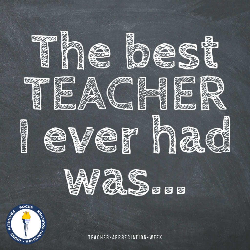 The best teacher I ever had was...