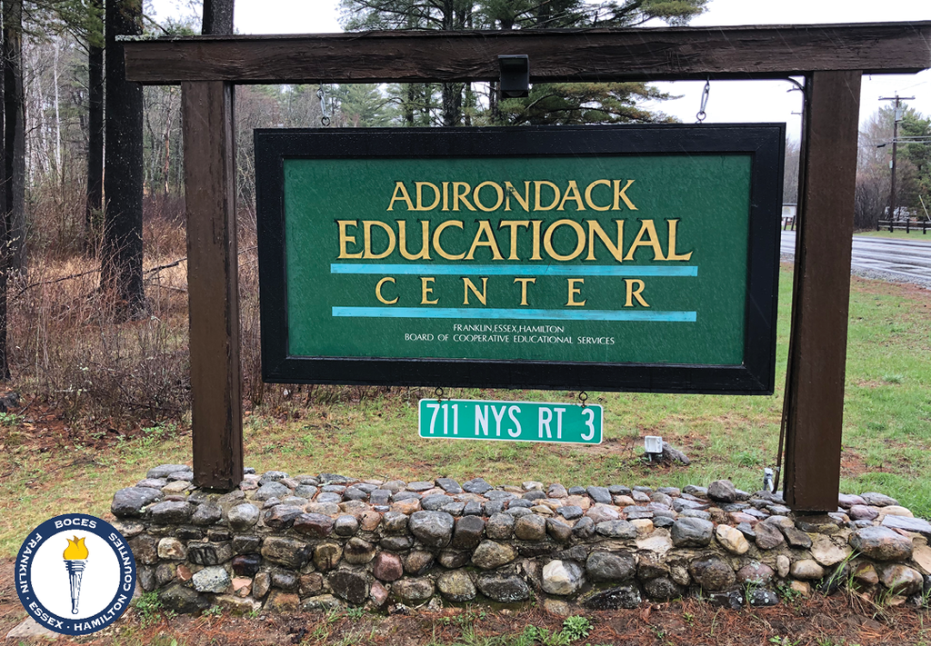 Sign that says Adirondack Educational Center