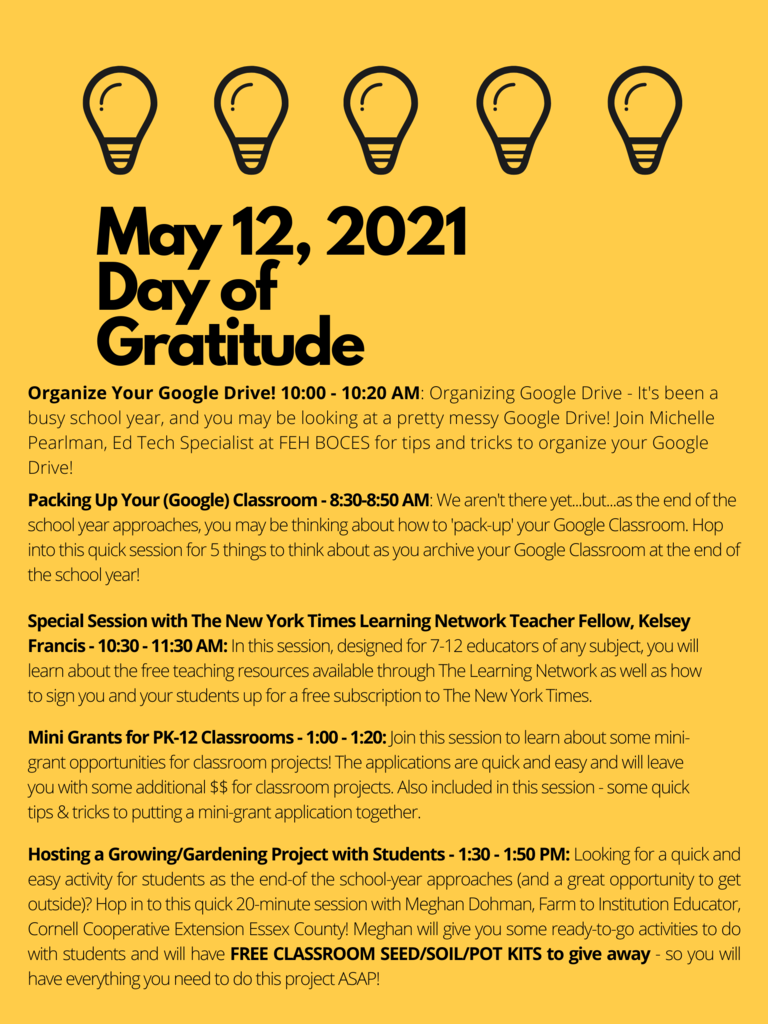 Day of Gratitude lineup